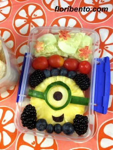 Minions fruit salad close-up