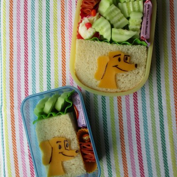 "Hundley from ""Curious George"" sandwich bentos"