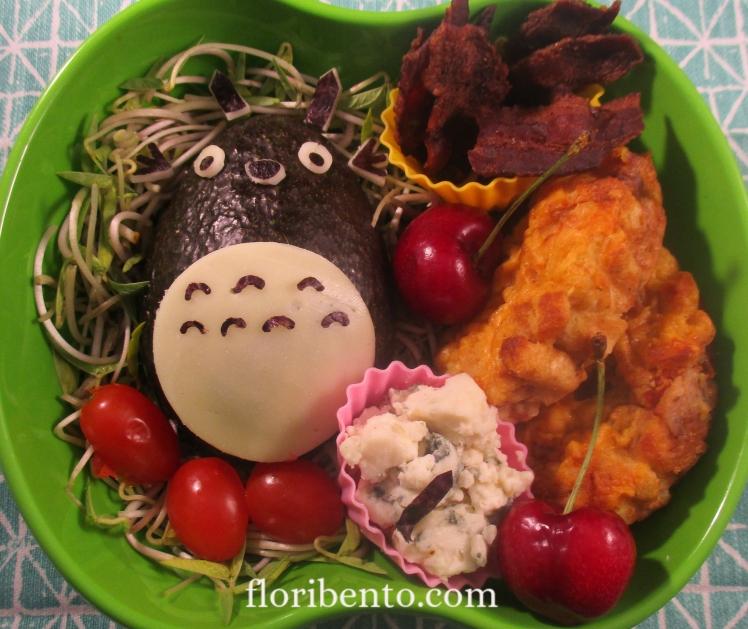Totoro salad bento (2)