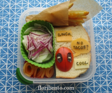 Deadpool sandwich bento