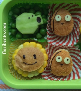 Plants vs. Zombies Snack Bento close up