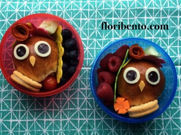 Owl bun snack bentos