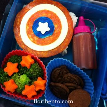 Captain America's shield bent
