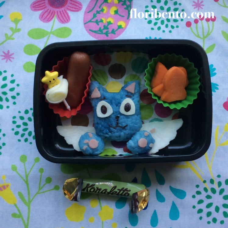 "Happy the cat ""Fairy Tail"" snack bento"