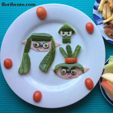 Splatoon Inklings food art (close up)