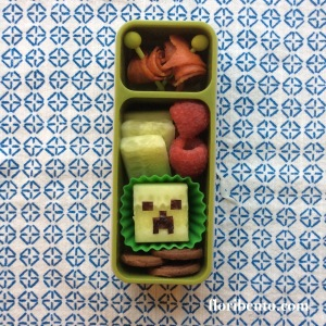 Creeper Minecraft snack bento