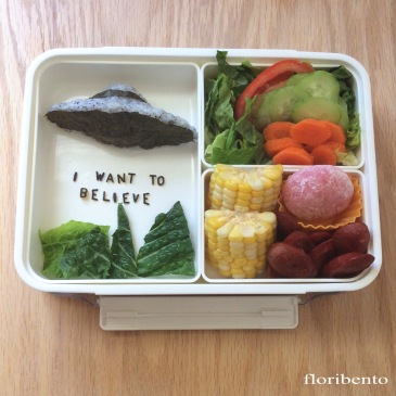 "X-Files ""I want to believe"" bento"